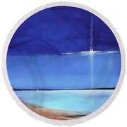 Light Sail Round Beach Towel