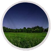 Light Show - Fireflies Vs The Stars Round Beach Towel