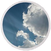 Light Through The Clouds Round Beach Towel