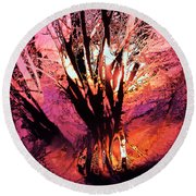 Light Through The Trees  Round Beach Towel