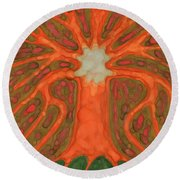 Light Tree Round Beach Towel