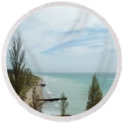 Light View Round Beach Towel