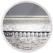 Light Wash Round Beach Towel