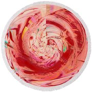 Light Waves Round Beach Towel