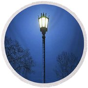 Light Winter Blue Round Beach Towel