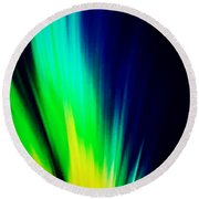 Lightburst Round Beach Towel