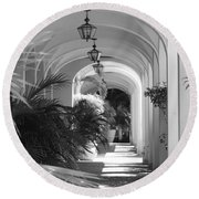 Lighted Arches Round Beach Towel