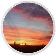 Lighted Clouds Round Beach Towel