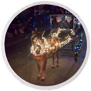 Lighted Pony Round Beach Towel
