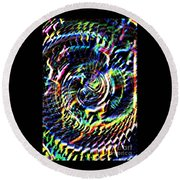 Lightening Fills The Vortex Round Beach Towel