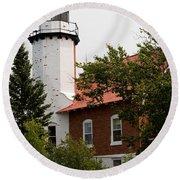 Lighthouse 1 Round Beach Towel