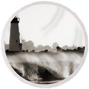 Lighthouse 2 Round Beach Towel