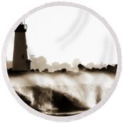 Lighthouse 3 Dreamy Round Beach Towel