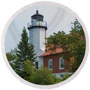 Lighthouse 3 Round Beach Towel