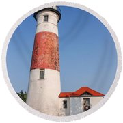 Lighthouse And Entry Round Beach Towel