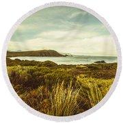 Lighthouse Bay Beach Bruny Island Round Beach Towel
