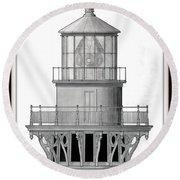 Lighthouse Detail Round Beach Towel