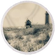 Lighthouse Fade Round Beach Towel