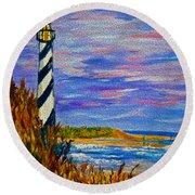 Lighthouse- Impressionism- The Coast Round Beach Towel
