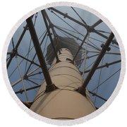 Lighthouse Marblehead Round Beach Towel