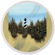 Lighthouse Round Beach Towel