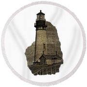 Lighthouse Of Old Round Beach Towel