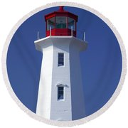 Lighthouse Peggy's Cove Round Beach Towel