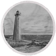 Lighthouse Point Round Beach Towel