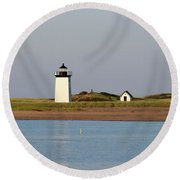 Lighthouse Provincetown 1 Round Beach Towel
