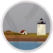 Lighthouse Provincetown 3 Round Beach Towel