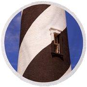Lighthouse Stripes Round Beach Towel