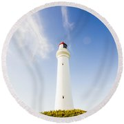 Lighthouses In Victoria Round Beach Towel