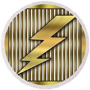 Lightning Bolt Round Beach Towel