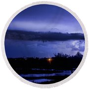 Lightning Thunderstorm July 12 2011 St Vrain Round Beach Towel