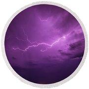 Lightning Totalitty 001 Round Beach Towel