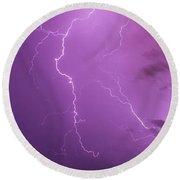 Lightning Totalitty 002 Round Beach Towel