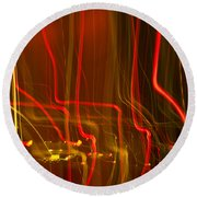 Lights Abstract02 Round Beach Towel