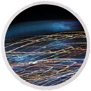 Lights Abstract06 Round Beach Towel