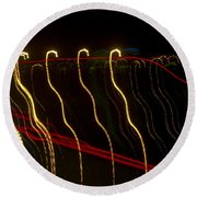 Lights Abstract07 Round Beach Towel