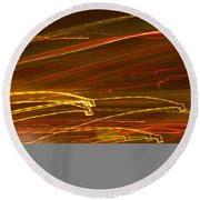 Lights Abstract4 Round Beach Towel