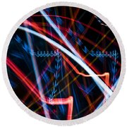Lights Abstract6 Round Beach Towel