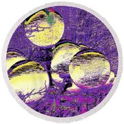 Lights Along The Way 4 Round Beach Towel