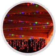 Lights At Christmas Round Beach Towel