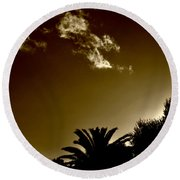 Lights Round Beach Towel