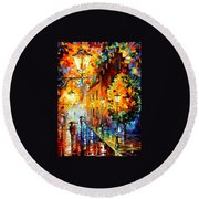 Lights In The Night Round Beach Towel
