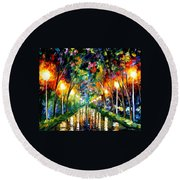 Lights Of Hope Round Beach Towel