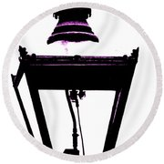 Lightshade In A Hint Of Purple Round Beach Towel