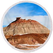 Like A Mound Of Prehistoric Mud Round Beach Towel