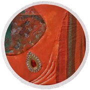 Like The Fabrics Of India Round Beach Towel