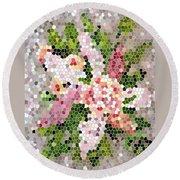 Lilac Bouquet II  Round Beach Towel